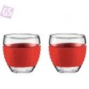 PAVINA pohár s červeným silikonovým krúžkom 11185-294