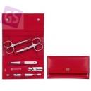 Zwilling Classic Inox manikúra, červená koža, 5 ks  97436-003