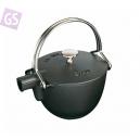 STAUB Kanvica na vodu s nerezovým sitkom 1,15 l, 16,5 cm čierna 16500 23