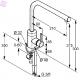 KLUDI drezová jednopáková batéria L-INE chróm kód 428140577